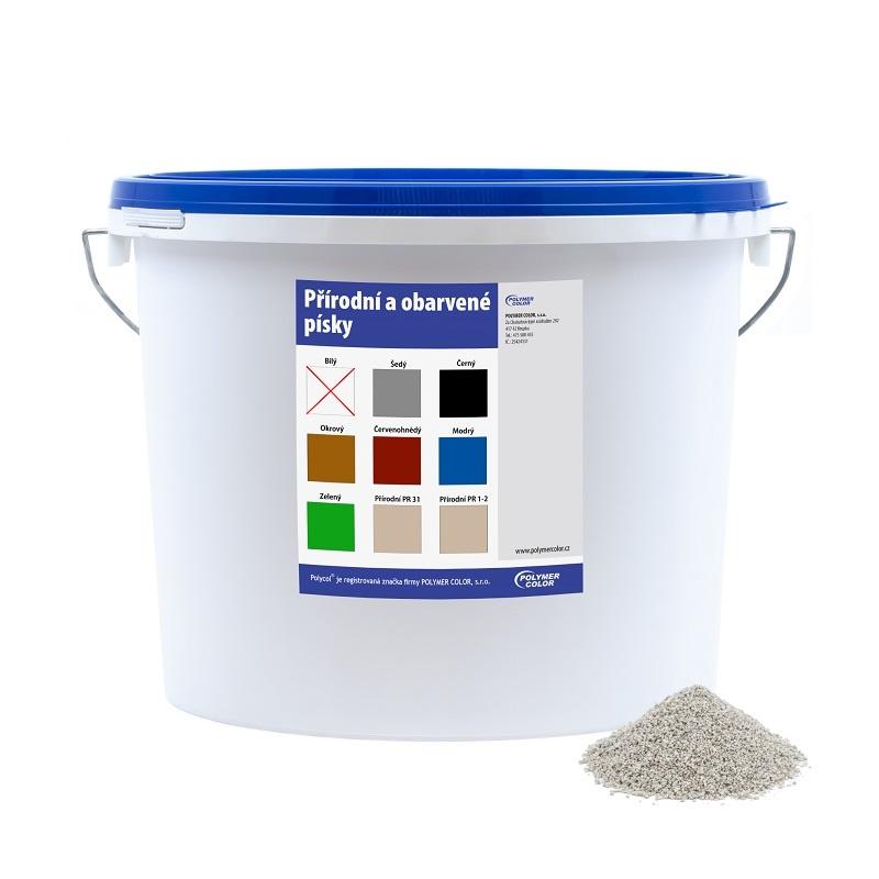 Obarvený písek bílý