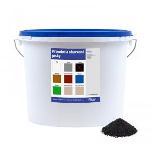 Obarvený písek černý